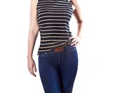 Button Tab Cover Clip for Jeans Instantly Stops Tiny Holes in Shirts and Tops Flattens Your Silhouette - BROWN_1002