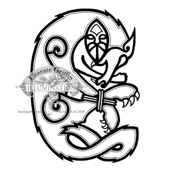 Tyr And Fenrir Viking Mythology Tattoo Art Etsy