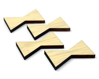 Blue Pine Inlay | Wood Bow Tie Accents | Board Stitcher | Wood Bow Tie | Wood Inlay | Sets of 2, 4, or 8 | Template Available