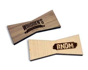 Custom Wood Inlay   Personalized Wood Bow Ties   Maple Board Stitcher   Walnut Inlay   Sets of 2, 4, or 8   Template Available