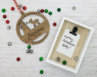 First Christmas Baby Ornament | Christmas 2020 Ornament | Custom Engraved Ornament | Rustic Ornament