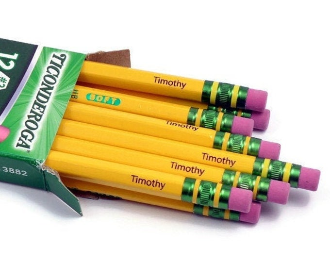 Featured listing image: Personalized #2 Ticonderoga Pencils