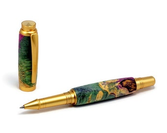 Colorful Satin Gold Rollerball Pen