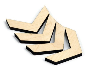 Maple Inlay | Wood Chevron Accents | Board Stitcher | Wood Chevron | Maple Wood Accents | Sets of 2, 4, or 8 | Template Available