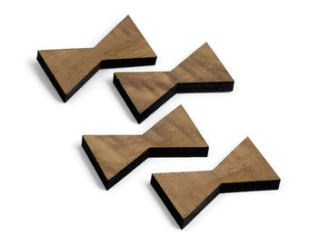 Black Walnut Inlay | Mini Wood Bow Tie Accents | Board Stitcher | Mini Wood Bow Tie | Walnut Inlay | Sets of 2, 4, or 8 | Template Available