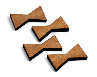 Mahogany Wood Inlay | Mini Wood Bow Tie Accents | Board Stitcher | Mini Wood Bow Tie | Sets of 2, 4, or 8 | Template Available