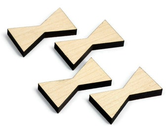Maple Wood Inlay | Mini Wood Bow Tie Accents | Board Stitcher | Mini Wood Bow Tie | Maple Inlay | Sets of 2, 4, or 8 | Template Available