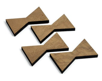 Black Walnut Inlay   Wood Bow Tie Accents   Board Stitcher   Wood Bow Tie   Walnut Inlay   Sets of 2, 4, or 8   Template Available