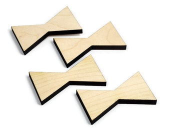 Maple Inlay | Wood Bow Tie Accents | Board Stitcher | Wood Bow Tie | Maple Inlay | Sets of 2, 4, or 8 | Template Available