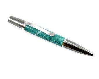 Handmade Acrylic Pen | Acrylic Ballpoint Pen | Anniversary Gift | Titanium Pen | Ballpoint Pen | Rhodium Pen | Twist Pen