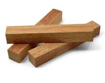 """Jatoba Pen Blanks 5""""+ Long By 3/4"""" Square, Pen Turning Blanks, Wood Blanks"""