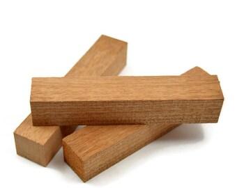 "Sapele Pen Blanks 5""+ Long X 7/8"" Square, Pen Turning Blanks, Wood Blanks"
