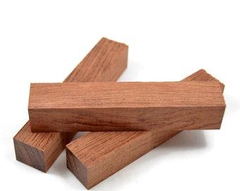 "Highly Figured Bubinga Pen Blanks 5""+ Long X 7/8"" Square, Pen Turning Blanks, Wood Blanks"