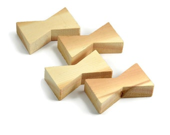 Eastern Red Cedar Wood Inlay | Wood Bow Tie Accents | Board Stitcher | Wood Bow Tie | Cedar Inlay | Set of 2 or 4
