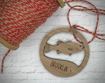 Fisherman Ornaments - Bass, Bluegill, or Carp