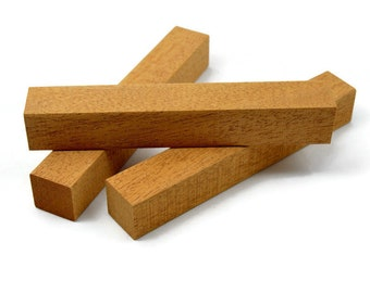 """African Mahogany Pen Blanks 5""""+ Long By 3/4"""" Square, Pen Turning Blanks, Wood Blanks"""