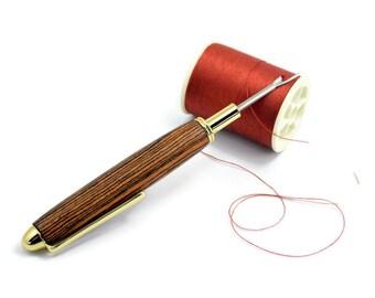 Handmade Seam Ripper | Bocote Wood Seam Ripper | Anniversary Gift | Gold Seam Ripper | Wood Seam Ripper | Gold