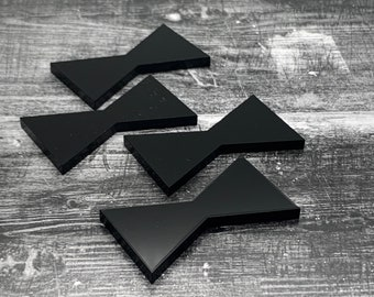 Black Acrylic Inlay | Wood Bow Tie Accents | Board Stitcher | Wood Bow Tie | Walnut Inlay | Sets of 2, 4, or 8 | Template Available