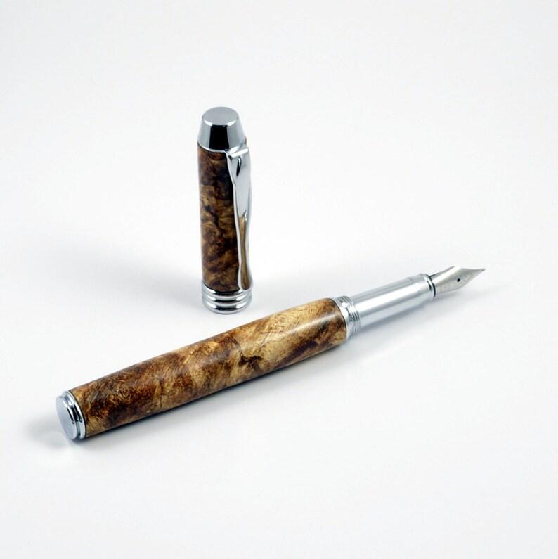 Handcrafted Pen  Maple Burl Fountain Pen  Graduation Gift  image 0