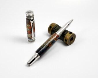 Handmade Pen    Acrylic Pen   Pinecone Pen   Rollerball Pen   Birthday Gift   Capped Pen   Titanium & Rhodium