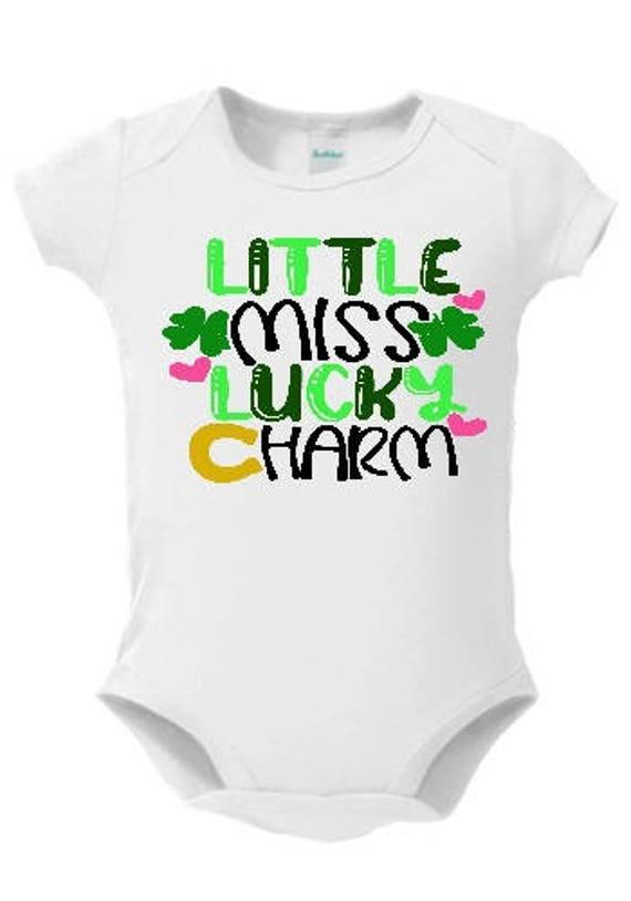 Original Girls St Patricks Day Bodysuit Little Miss Luck Clovers 24 Months Baby & Toddler Clothing Tops & T-shirts