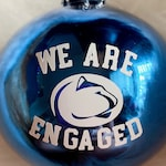State Engagement Christmas Ornaments / Christmas Ornaments /  State Christmas Gifts / Pennsylvania Engagement / Engagement Gift Ideas