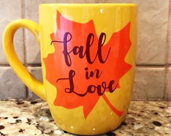 Fall In Love Coffee Mug, Fall coffee Mug, coffee mug
