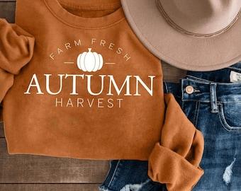 Farm Fresh Autumn Harvest Crewneck or Tee / Fall T-Shirts / Fall Crewnecks / Fall Outfits / Fall Shirts / Fall