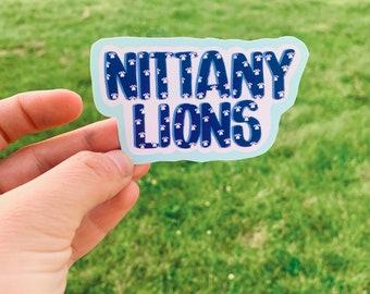 Handwritten Nittany Sticker / Penn Football Sticker / We Are State Football Stickers / Stickers / Football Stickers