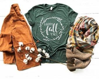 Happy Fall Y'all T-Shirt / Happy Fall Y'all / Fall T-Shirts / Fall Shirts / Fall