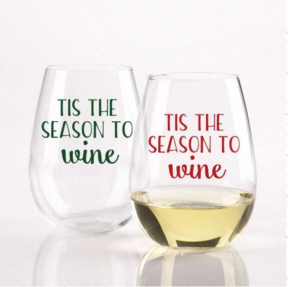 Christmas Gifts For Wine Lovers.Tis The Season To Wine Stemless Wine Glass Christmas Wine Glass Christmas Gifts For Wine Lovers Christmas Gifts Tis The Season