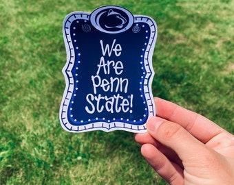 We Are Penn Sticker / Penn Football Sticker / We Are State Football Stickers / Stickers / Football Stickers