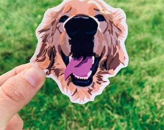 Golden Retriever Sticker / Golden Retriever/ Golden Stickers / Retriever Sticker