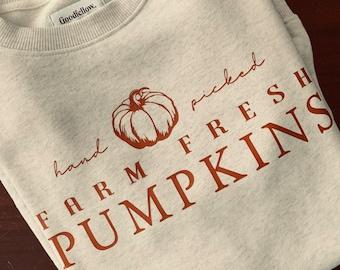 Cream Farm Fresh Autumn Harvest Crewneck or Tee / Fall T-Shirts / Fall Crewnecks / Fall Outfits / Fall Shirts / Fall