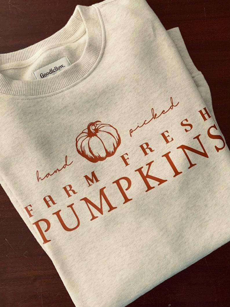 Cream Farm Fresh Autumn Harvest Crewneck or Tee / Fall image 0