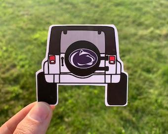 Jeep State Sticker / Penn Football Sticker / We Are State Football Stickers / Stickers / Football Stickers