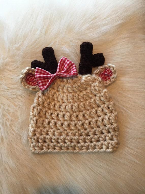 Crochet Reindeer Hats   Christmas Reindeer Hats   Reindeer  271661349fc