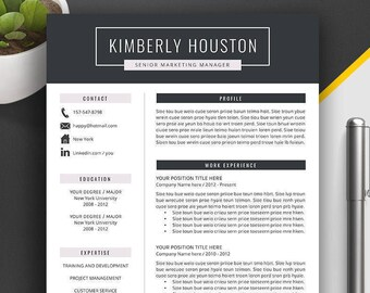 Resume Template / CV Template | Word Resume Template | Professional Resume | Creative CV | Simple Resume Design | Instant Download |Kimberly