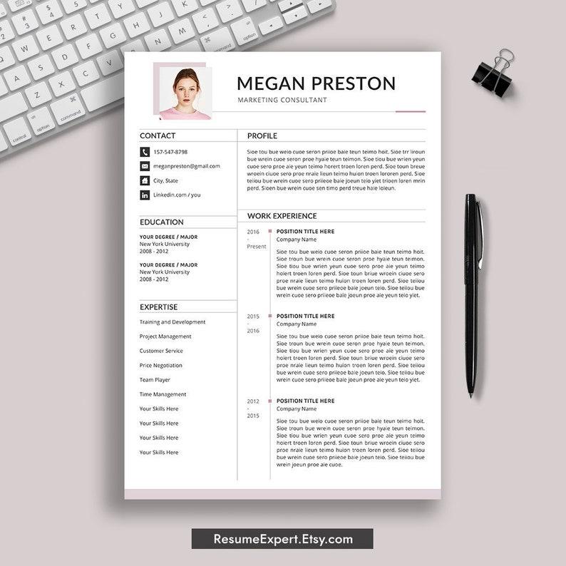 Modern Resume Template Word CV Cover Letter 1 3