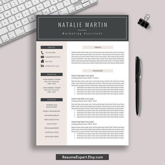 2020 Resume Template For Word Cv Template Modern Resume Etsy