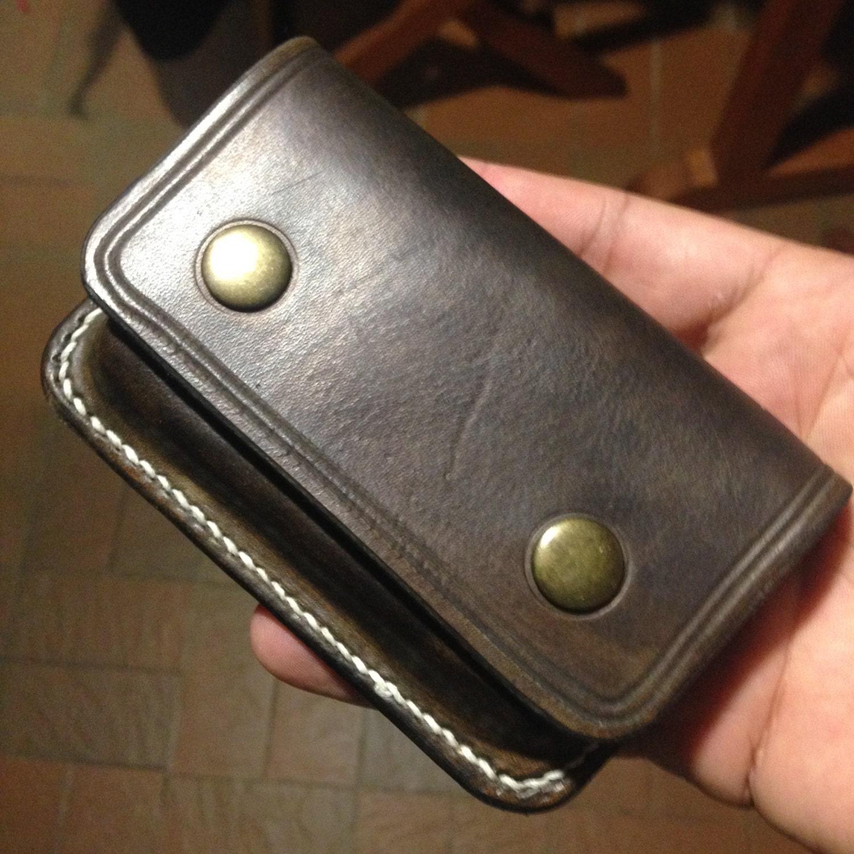 Porte carte de visite en cuir avec initiales etsy - Porte carte de visite en cuir ...