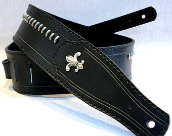 LEATHER STRAP for guitar / bass