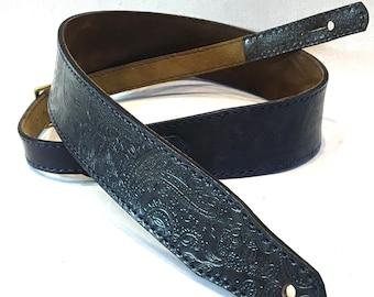 Leather Strap (paisley / indigo)