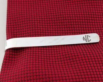 Personalized Tie Pin,Wedding Tie Clip,Two Initials Monogram Tie Clip,Grooman Tie Clip,Engraved Tie Clips,Groomsmen Tie Clip,Gift for Groom