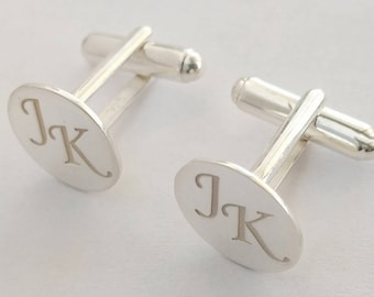 Wedding Cufflinks, Groomsmen Cufflinks, Custom Monogram CuffLinks, Personalized Cufflinks Groom,  Engraved Cufflinks, Cuff links Custom
