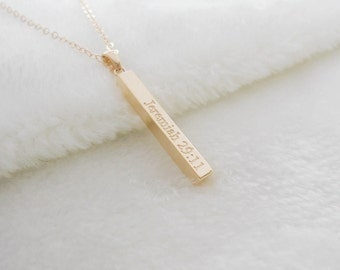 Bible Verse Vertical Bar Necklace,Encouraging Bible Verse necklace,Engraved Bible Verses Necklace,Personalized Bible Verse Jewelry