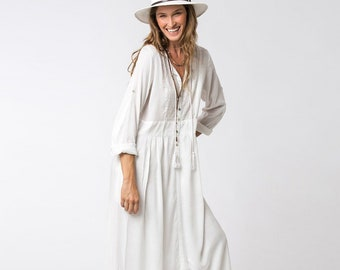 b4a98d96c6 Long Sleeve White Dress