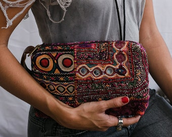 Bohemian Clutch Wallet, Boho Clutch, Embroidery Clutch Purse, Tribal Clutch, Womens Gift, Bohemian Wallet, Gift For Her
