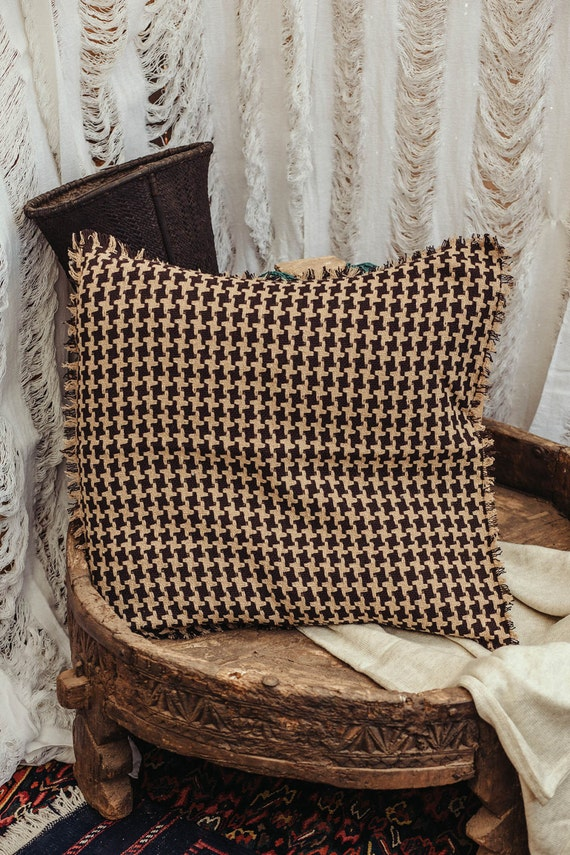 Tribal Throw Pillow Cover 40x40 Inch Cushion Cover In Beige Etsy Cool Etsy Pillow Covers 20x20