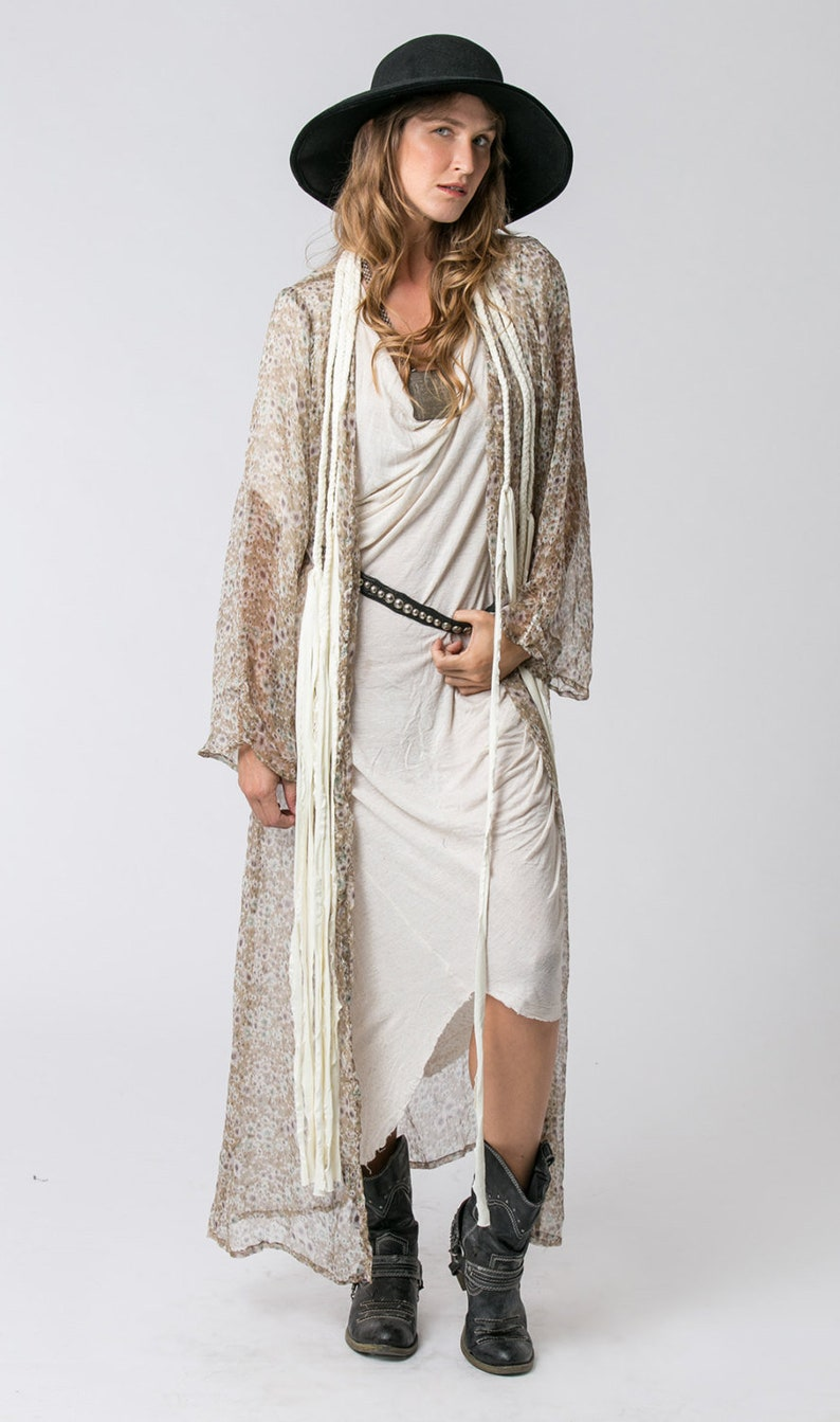 259ea765c73 Floral Chiffon Kimono Cardigan Boho Kimono Long Sheer | Etsy
